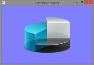 Alpha channel image on blue background