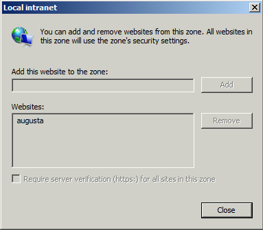 Applied Site to Zone Group Policy