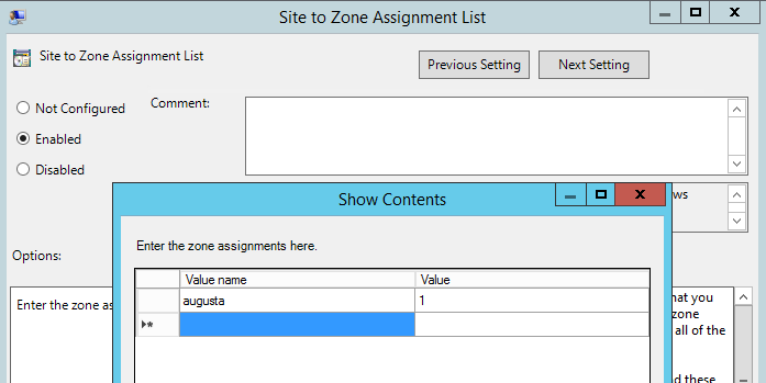 Site to Zone Mapping for OpenInsight